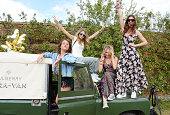 Jaime Winstone Cara Delevingne Poppy Jamie and Gala Gordon attend The Mulberry Wilderness Picnic with Cara Delevingne during Wilderness 2014 at...