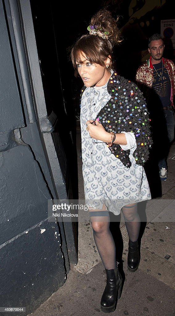 Jaime Winstone is seen arriving at Shorditch House on August 15, 2014 in London, England.