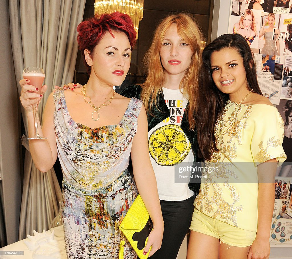 Jaime Winstone, Josephine de la Baume and Bip Ling attend the 12th birthday of New York jewellery house Faraone Mennella, with guest of honour Patricia Field, at their Knightsbridge store on June 13, 2013 in London, England.
