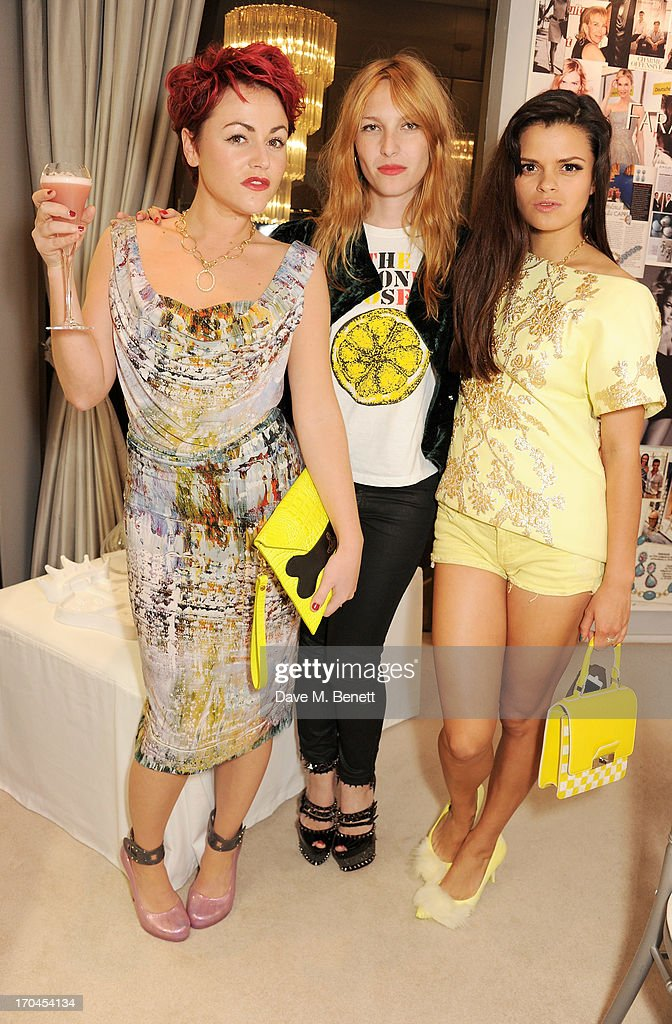 <a gi-track='captionPersonalityLinkClicked' href=/galleries/search?phrase=Jaime+Winstone&family=editorial&specificpeople=834918 ng-click='$event.stopPropagation()'>Jaime Winstone</a>, Josephine de la Baume and <a gi-track='captionPersonalityLinkClicked' href=/galleries/search?phrase=Bip+Ling&family=editorial&specificpeople=5953668 ng-click='$event.stopPropagation()'>Bip Ling</a> attend the 12th birthday of New York jewellery house Faraone Mennella, with guest of honour Patricia Field, at their Knightsbridge store on June 13, 2013 in London, England.