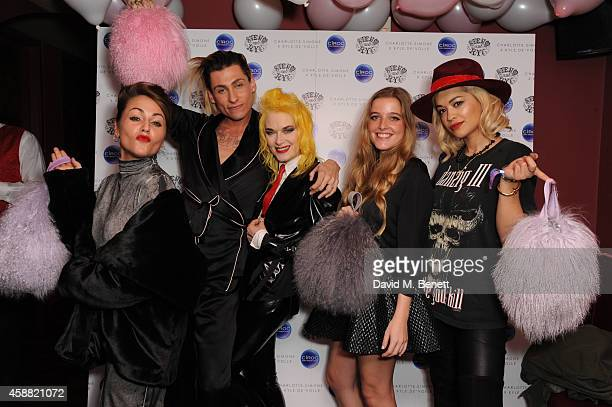Jaime Winstone Kyle De'volle Pam Hogg Charlotte Simone and Rita Ora attend the Charlotte Simone x Kyle De'volle collection launch at Steam Rye on...