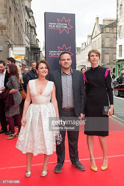 Jaime Winstone Kyle Patrick Alvarez and Dolly Wells attend the Opening Night Gala and World Premiere of 'The Legend of Barney Thomson' during the...