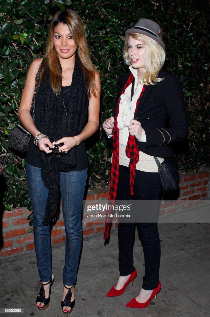Jaimee Grubbs (L) sighting in West Hollywood on December 2, 2009 in Los Angeles, California.