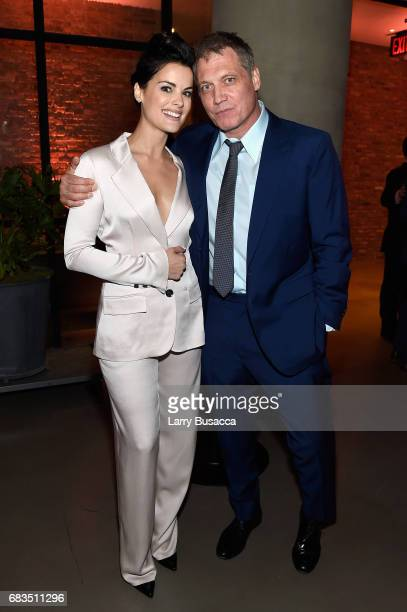 Jaimie Alexander and Holt McCallany attend the Entertainment Weekly and PEOPLE Upfronts party presented by Netflix and Terra Chips at Second Floor on...