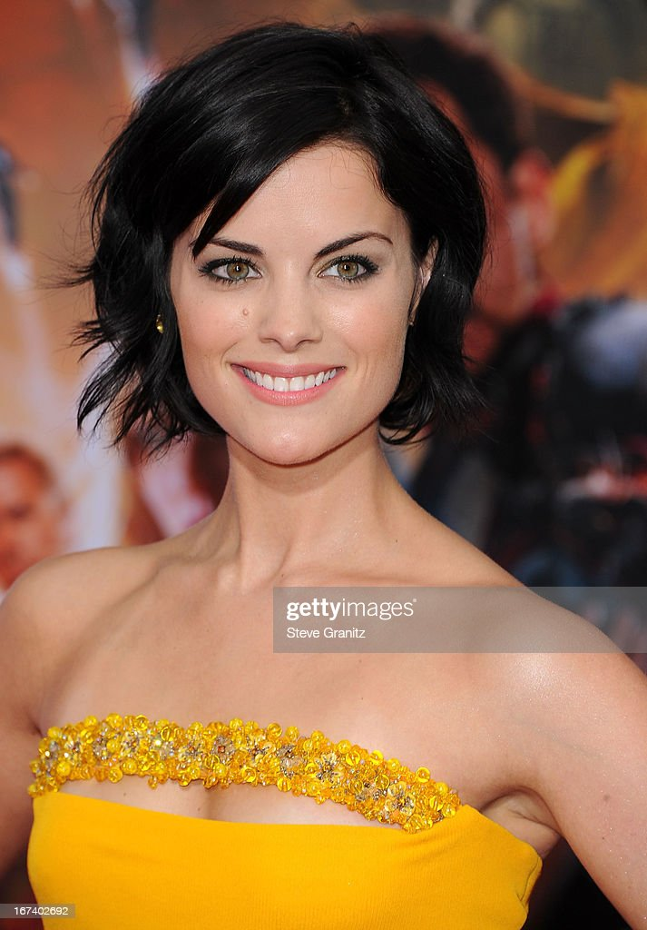 Jaimie Alexander arrives at the 'Iron Man 3' - Los Angeles Premiere at the El Capitan Theatre on April 24, 2013 in Hollywood, California.