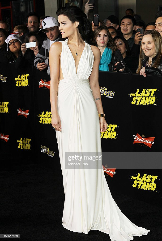 Jaimie Alexander arrives at the Los Angeles premiere of 'The Last Stand' held at Grauman's Chinese Theatre on January 14, 2013 in Hollywood, California.