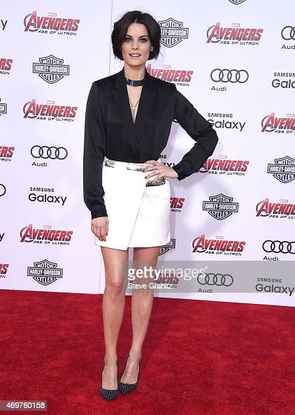 Jaimie Alexander arrives at the Marvel's 'Avengers Age Of Ultron' Los Angeles Premiere at Dolby Theatre on April 13 2015 in Hollywood California