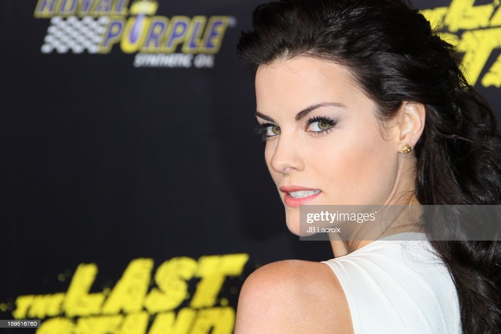 Jaimie Alexander attends 'The Last Stand' - Los Angeles Premiere at Grauman's Chinese Theatre on January 14, 2013 in Hollywood, California.