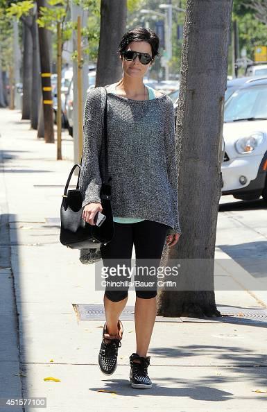 Jaimie Alexander is seen in Los Angeles on July 01 2014 in Los Angeles California