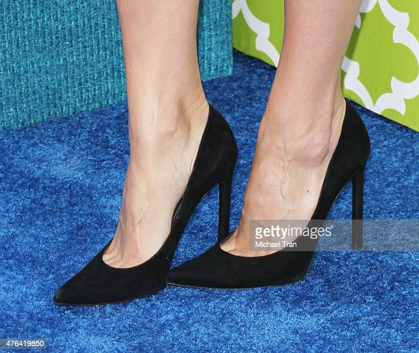 Jaimie Alexander shoe detail arrives at the Los Angeles premiere of HBO's new comedy series 'The Brink' held at Paramount Studios on June 8 2015 in...