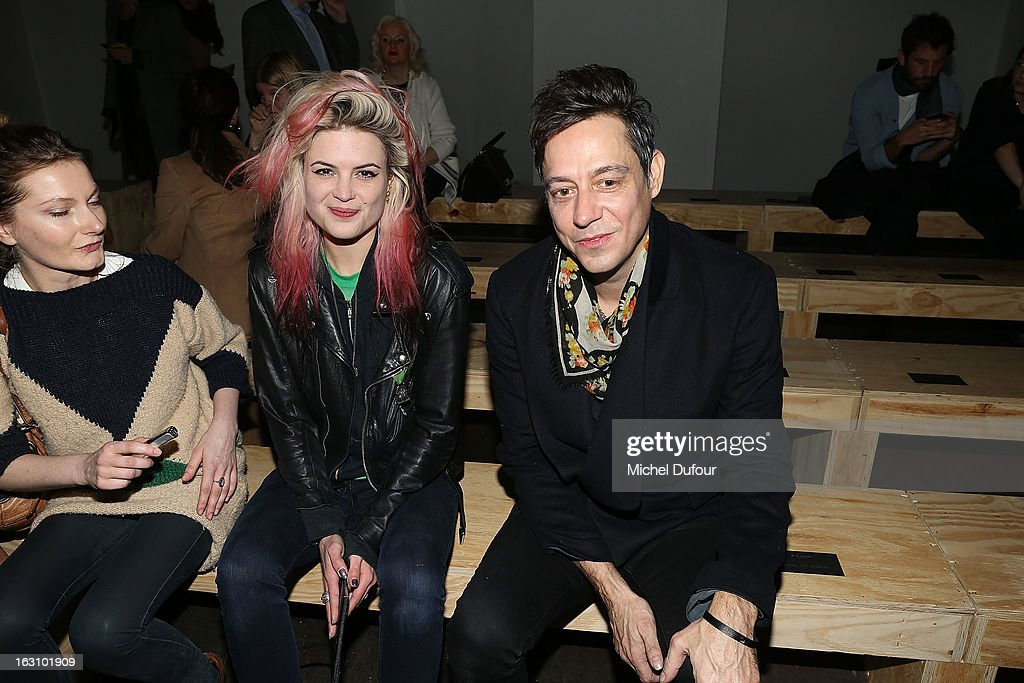 Jaimie Hince and guest attend the Saint Laurent Fall/Winter 2013 Ready-to-Wear show as part of Paris Fashion Week on March 4, 2013 in Paris, France.