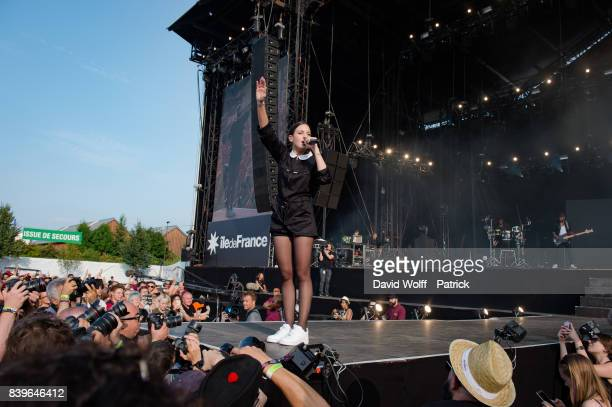 Jain performs at Rock en Seine Festival at Domaine National de SaintCloud on August 26 2017 in Paris France