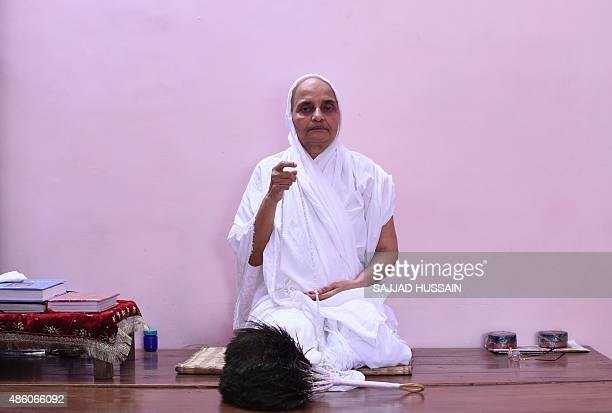 A Jain Sadhu prays in a room at the Jain Temple in the old quarters of New Delhi on August 31 2015India's Jain community scored a legal victory when...