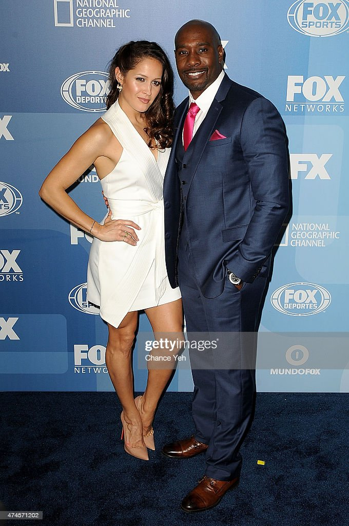 Jaina Lee Ortiz and Morris Chestnut attend 2015 FOX Programming Presentation at Wollman Rink, Central Park on May 11, 2015 in New York City.