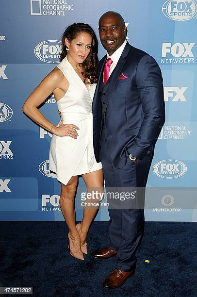 Jaina Lee Ortiz and Morris Chestnut attend 2015 FOX Programming Presentation at Wollman Rink Central Park on May 11 2015 in New York City