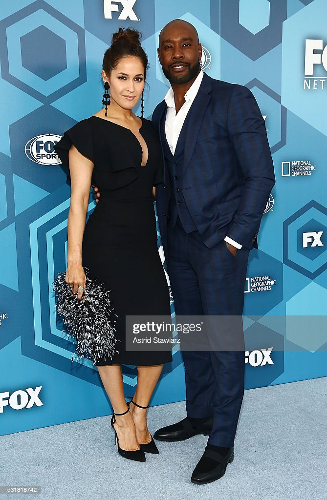 Jaina Lee Ortiz and Morris Chestnut attend FOX 2016 Upfront Arrivals at Wollman Rink, Central Park on May 16, 2016 in New York City.