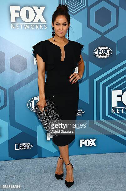 Jaina Lee Ortiz attends FOX 2016 Upfront Arrivals at Wollman Rink Central Park on May 16 2016 in New York City