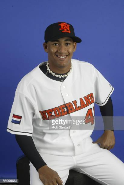 Jair Jurrjens poses during Team Netherlands photo day for the World Baseball Classic on March 4 2006 at Disney's Wide World of Sports in Kissimmee...