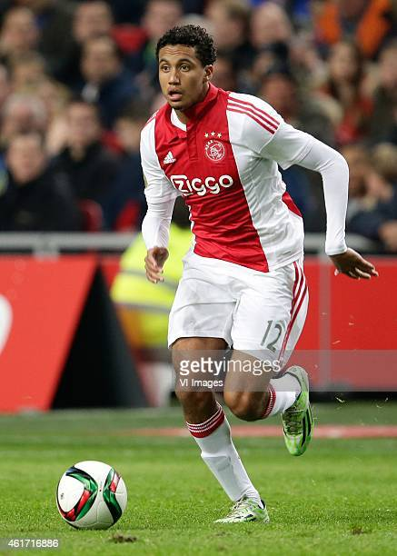 Jairo Riedewald of Ajax during the Dutch Eredivisie match between Ajax Amsterdam and FC Groningen at the Amsterdam Arena on January 16 2015 in...