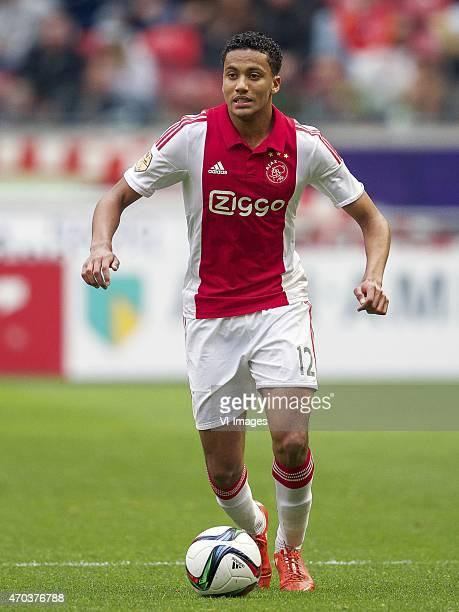 Jairo Riedewald of Ajax during the Dutch Eredivisie match between Ajax Amsterdam and NAC Breda at the Amsterdam Arena on April 19 2015 in Amsterdam...