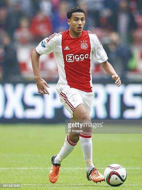 Jairo Riedewald of Ajax during the Dutch Eredivisie match between Ajax Amsterdam and PSV Eindhoven at the Amsterdam Arena on October 4 2015 in...
