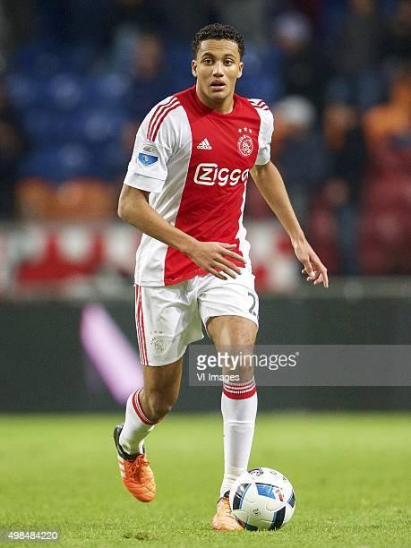 Jairo Riedewald of Ajax during the Dutch Eredivisie match between Ajax Amsterdam and SC Cambuur Leeuwarden at the Amsterdam Arena on November 21 2015...
