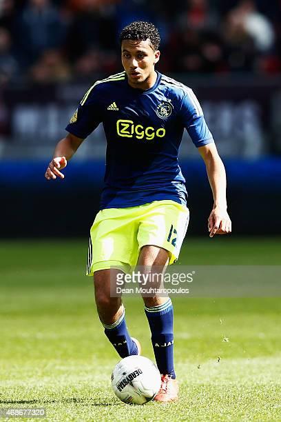 Jairo Riedewald of Ajax in action during the Dutch Eredivisie match between FC Utrecht and Ajax Amsterdam held at Stadion Galgenwaard on April 5 2015...