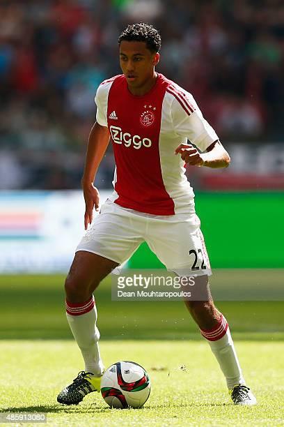Jairo Riedewald of Ajax in action during the Dutch Eredivisie match between Ajax Amsterdam and ADO Den Hagg on August 30 2015 in Amsterdam Netherlands