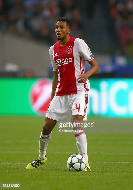 Jairo Riedewald of Ajax in action during the UEFA Champions League Playoff 1st Leg match between Ajax and Rostov at Amsterdam Arena on August 16 2016...