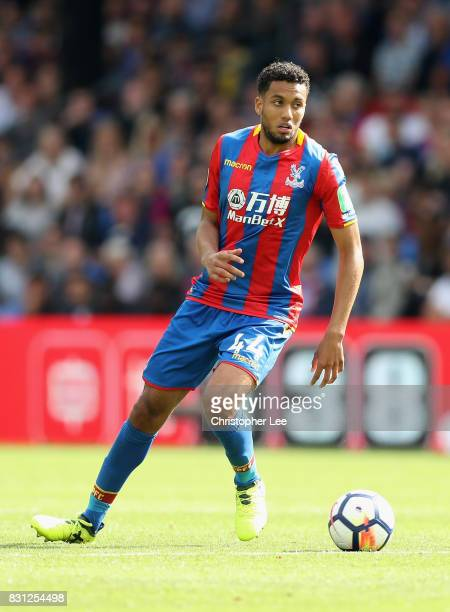 Jairo Riedewald of Crystal Palace in action during the Premier League match between Crystal Palace and Huddersfield Town at Selhurst Park on August...