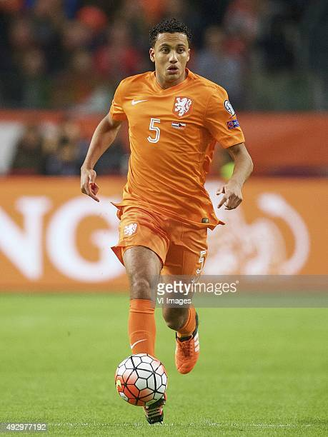 Jairo Riedewald of Holland during the EURO 2016 qualifying match between Netherlands and Czech Republic on October 10 2015 at the Amsterdam Arena in...