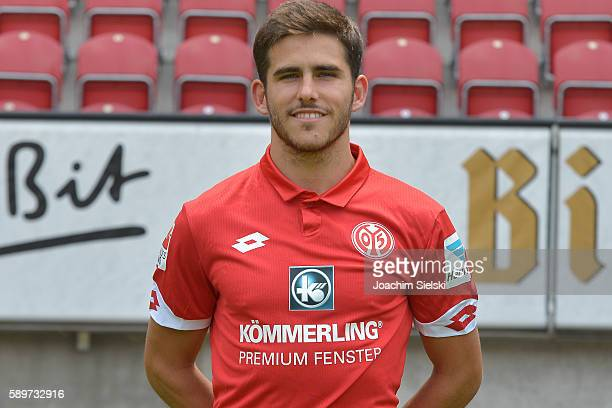 Jairo Sampeiro poses during the official team presentation of 1 FSV Mainz 05 at Opel Arena on July 25 2016 in Mainz Germany