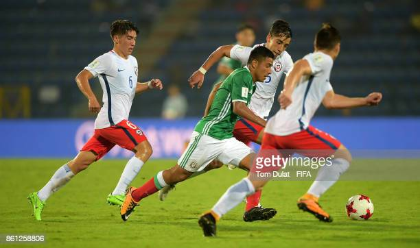 Jairo Torres of Mexico in action during the FIFA U17 World Cup India 2017 group E match between Mexico and Chile at Indira Gandhi Athletic Stadium on...