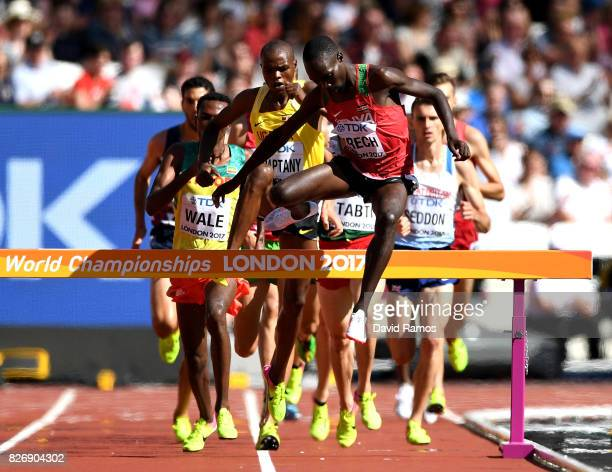 Jairus Kipchoge Birech of Kenya competes in the Men's 3000 metres Steeplechase heats during day three of the 16th IAAF World Athletics Championships...