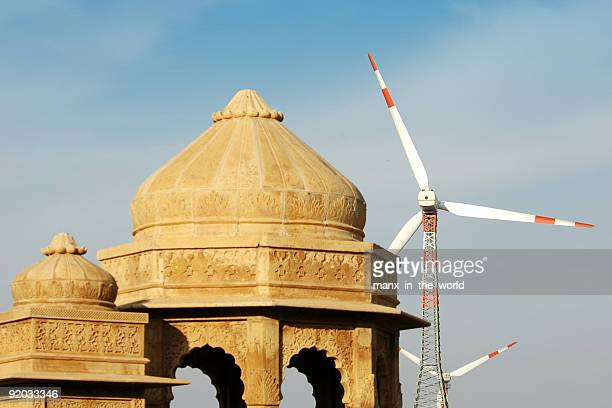 Jaisalmer, Cenotaphs and windmills
