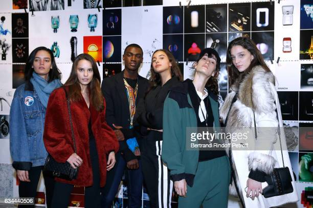 Jak Bueno Donaldson Obennebo daughter of Yannick Noah Jenaye Noah guest and Larissa Marchiori attend the Launching of the Book 'Mocafico Numero' at...