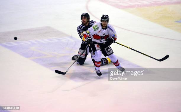 Jaka ANKERST / Francis CHARLAND Hockey sur glace Rouen / Briancon 1/2Finale Coupe de France Photo Dave Winter / Icon Sport