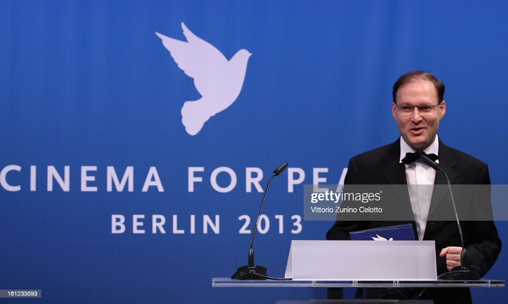 Jaka Bizilj during the Cinema For Peace Gala Ceremony at the 63rd Berlinale International Film Festival at the Waldorf Astoria Hotel on February 9, 2013 in Berlin, Germany.