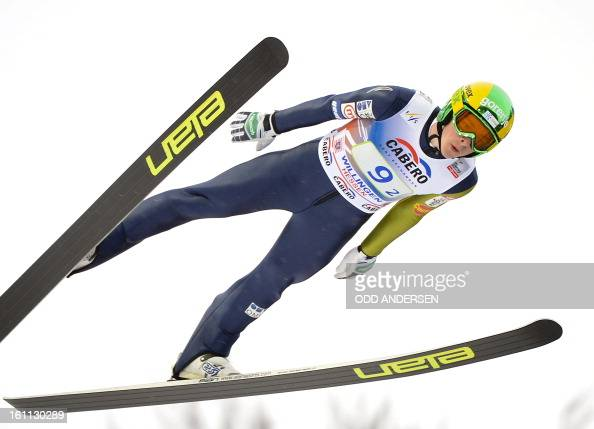 Jaka Hvala of Slovenia jumps during the FIS Ski Jumping World Cup team competition on the Muehlenkopfschanze hill in Willingen western Germany on...