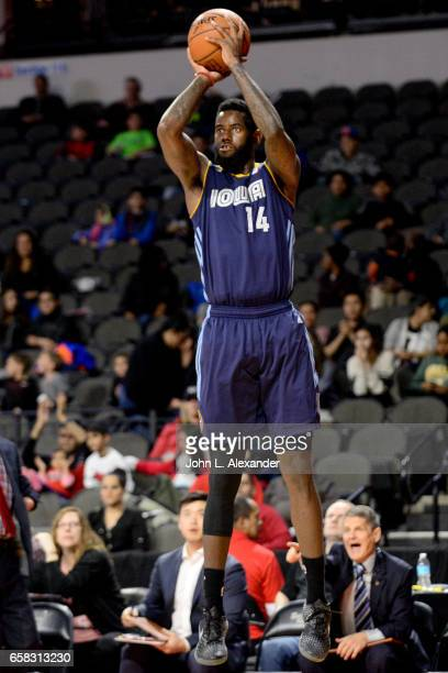 JaKarr Sampson of the Iowa Energy shoots a jump shot against the Windy City Bulls on March 23 2017 at the Sears Centre Arena in Hoffman Estates...