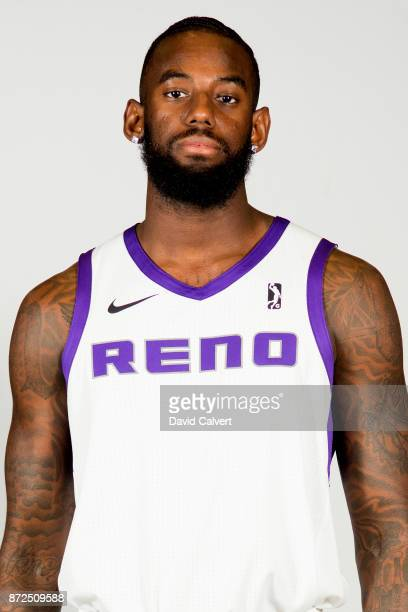 JaKarr Sampson of the Reno Bighorns poses for a head shot during NBA GLeague media day at the Reno Events Center on November 1 2017 in Reno Nevada...