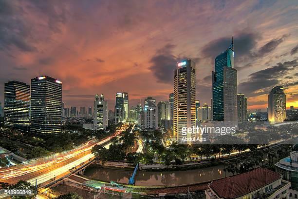 Jakarta Burning sky