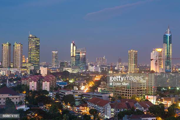 Jakarta cityscape at night