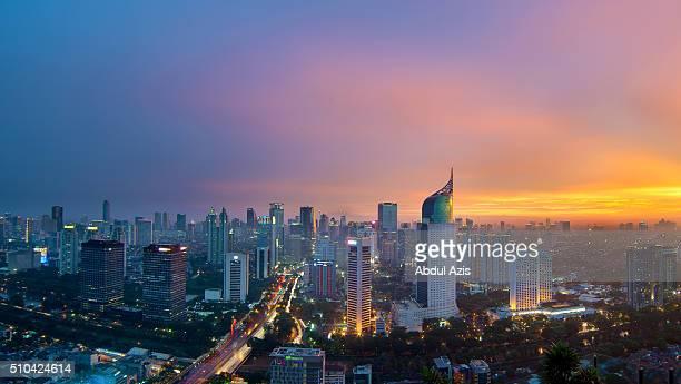 Jakarta Cityscape Epic Sunset