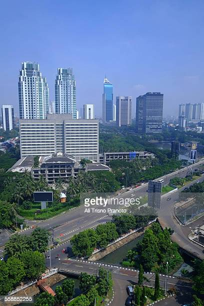 Jakarta cityscape in the early morning