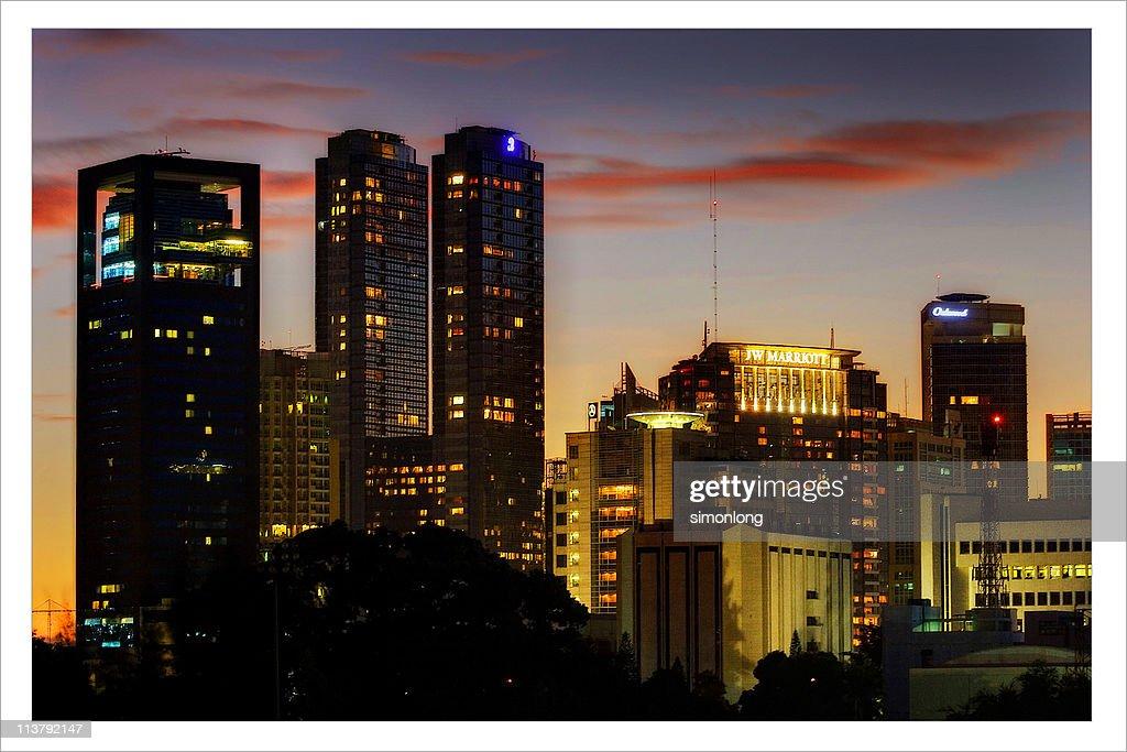 Jakarta late afternoon : Stock Photo