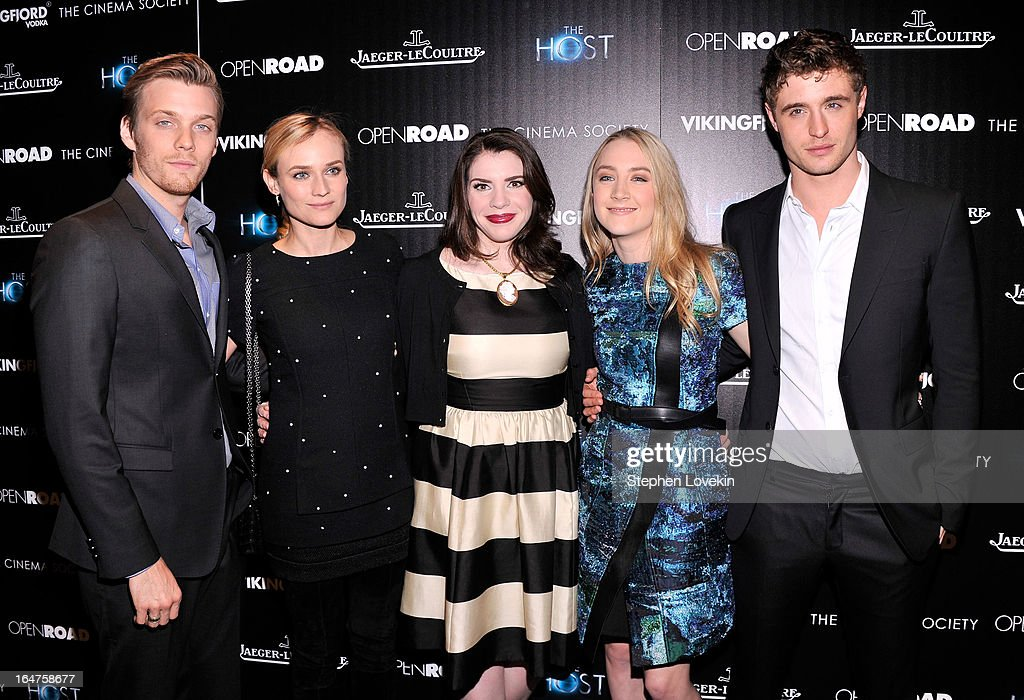 Jake Abel, Diane Kruger, Stephenie Meyer, Saoirse Ronan and Max Irons attend The Cinema Society and Jaeger-LeCoultre Hosts A Screening Of 'The Host' at Tribeca Grand Hotel on March 27, 2013 in New York City.