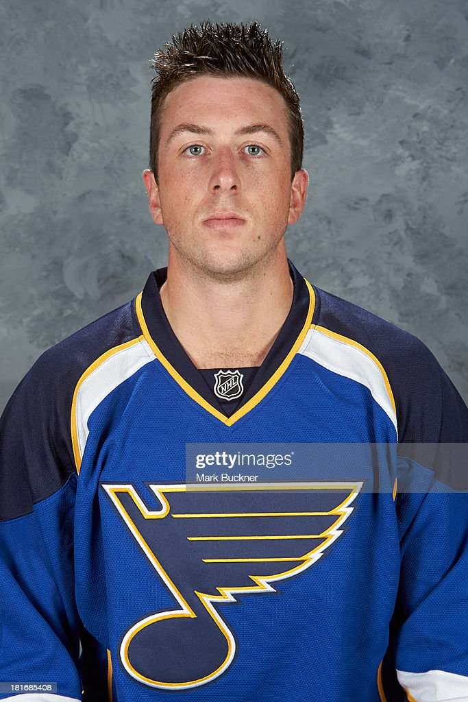 Jake Allen of the St. Louis Blues poses for his official headshot for the 2013-2014 season on September 12, 2013 at the Scottrade Center in St. Louis, Missouri.