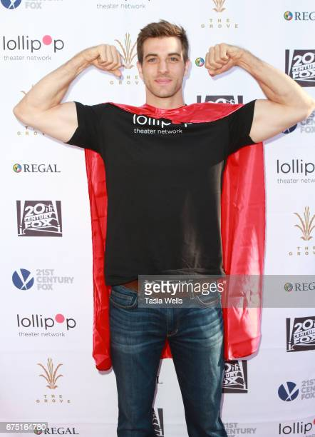 Jake Allyn attends The Lollipop Superhero Walk Presented by 20th Century Fox benefitting Lollipop Theater Network at The Grove on April 30 2017 in...
