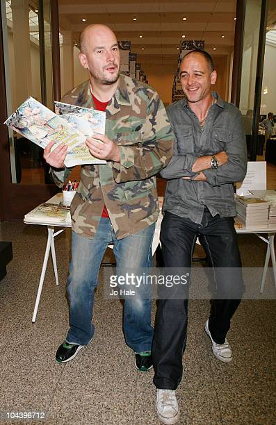 Jake and Dinos Chapman open the London Art Book Fair and sign copies of the 'The Jake and Dinos Colouring Book' at Whitechapel Gallery on September...